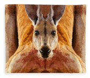 Big Boy Red Kangaroo   Fleece Blanket