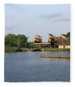 Big Chute Marine Railway, Trent Severn Waterway, Ontario Fleece Blanket