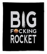 Big Fucking Rocket Bfr Fleece Blanket