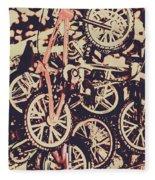 Bike Mountain Fleece Blanket