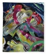 Bild Mit Weissen Linien - Painting With White Lines Fleece Blanket
