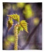 Birch Blooms Fleece Blanket