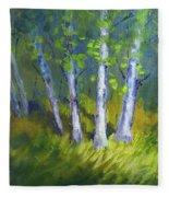 Birch Light Landscape Fleece Blanket