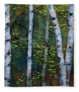 Birch Portrait II Fleece Blanket