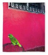 Bird On Cage Fleece Blanket