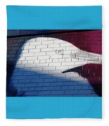 Bird Silhouette Design Fleece Blanket