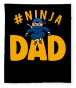 Birthday Ninja Party Dad Apparel Fleece Blanket