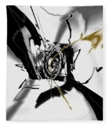 Black And White Abstract Fleece Blanket