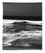 Black And White Beach 7- Art By Linda Woods Fleece Blanket