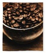Black Coffee, No Sugar Fleece Blanket