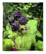 Black Raspberries  Fleece Blanket