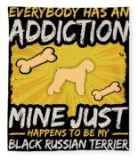 Black Russian Terrier Funny Dog Addiction Fleece Blanket