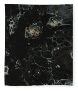 Black, Silver And Gold Abstract Fleece Blanket