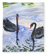 Black Swans - Soulmate Fleece Blanket