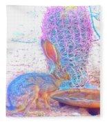 Black-tailed Jackrabbit Fleece Blanket