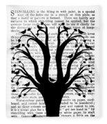 Blackbirds In A Tree - Central Fleece Blanket