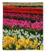 Blazing Tulips Fleece Blanket