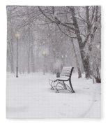 Blizzard In The Park Fleece Blanket