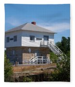 Blockhouse At Kingston Mills On The Rideau Canal Fleece Blanket