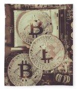 Blocks Of Bitcoin Fleece Blanket