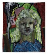 Blonde Girl Fleece Blanket