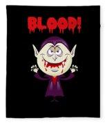 Blood Bloody Vampire Halloween Fleece Blanket