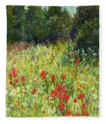 Blooming Field Fleece Blanket