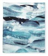 Blue #10 Fleece Blanket
