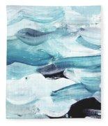 Blue #13 Fleece Blanket