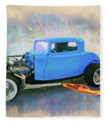 Blue 32 Ford Coupe Fleece Blanket