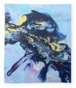 Blue Abstract #3 Fleece Blanket