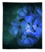Blue Fleece Blanket by Allin Sorenson