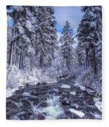 Blue And White Fleece Blanket