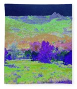 Blue Badlands Rhapsody Fleece Blanket