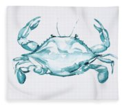 Blue Crab Turcoise Fleece Blanket