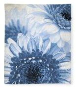 Blue Gerbera Fleece Blanket