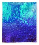 Blue Glass Fleece Blanket