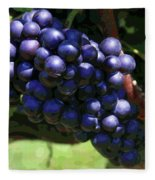 Blue Grape Bunches 5 Fleece Blanket