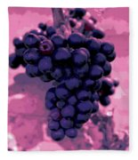 Blue Grape Bunches 6 Fleece Blanket