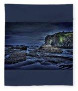 Blue Hour At Bandon Beach Fleece Blanket