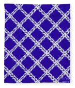 Blue Knit Fleece Blanket