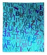 Blue Letters Over Blue Backlight Fleece Blanket