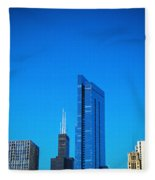 Blue Middle Fleece Blanket