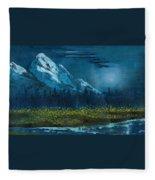 Blue Mountain Top Fleece Blanket