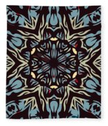 Blue Pattern Fleece Blanket