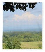 Blue Ridge Mountains And Vineyards Fleece Blanket