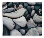 Blue Rock Garden Fleece Blanket