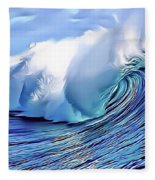 Blue Surf Fleece Blanket