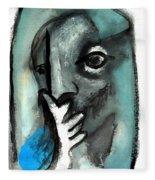 Blue Thinker Fleece Blanket