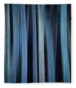 Blue Trees 1 Fleece Blanket